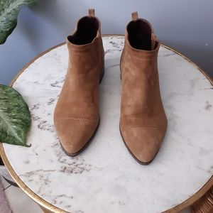 Nine West boho suede pointed ankle booties
